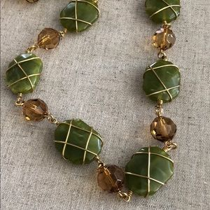 Joan Rivers Gold Wire wrapped beaded necklace